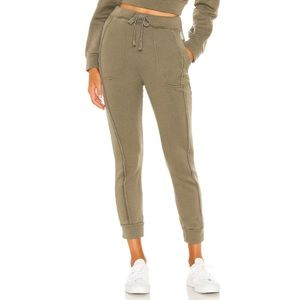 Free People Work It Out Jogger in Army Size Small